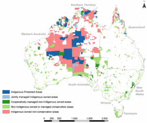 Map 1. Indigenous owned and conservation lands in Australia. Source: Jon Altman